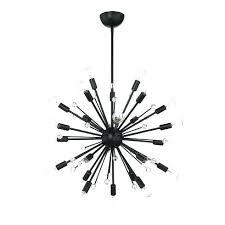 black sputnik chandelier light and brass chandel
