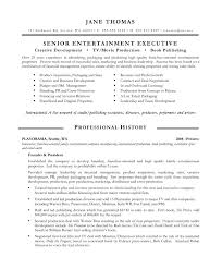 Free Resume Sample Entertainment Executive Free Resume Samples Blue Sky Resumes