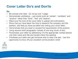 cover letter dos and don ts cover letter writing ppt video online download