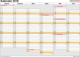 Excel Kalender Kalender 2018 Zum Ausdrucken In Excel 16 Vorlagen Kostenlos