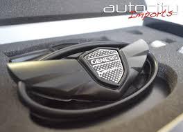 black hyundai genesis logo. Modren Hyundai 2010 Hyundai Genesis Coupe Wing Emblem Kit Matte Black To Black Logo
