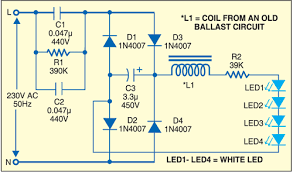 cfl circuit diagram working cfl image wiring diagram night lamp from scrap cfl electronics for you on cfl circuit diagram working