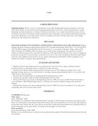 Employment Objective Resume Resume For Your Job Application