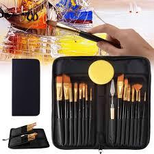 <b>15Pcs</b>/Lot Artist Paint <b>Brushes</b> Set Gouache <b>Nylon</b> Hair Watercolor ...
