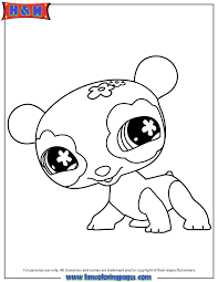 Littlest Pet Shop Cute Panda Coloring Page Free Printable