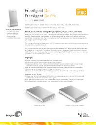 pdf for seagate storage freeagent desk 640gb manual