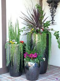 giant planters decorative plant pots outdoor tall flower large pottery