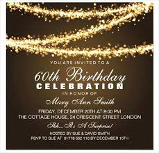 Sample Party Invite 60th Birthday Party Invitation Card Sample Invitations For Her