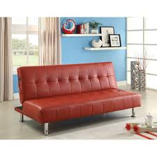 faux leather sleeper sofa bed