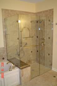shower stalls with seats. Delighful Shower Tile Shower Stalls With Seat   Shower Enclosure Buttress Panel  Separating Tub From On With Seats A