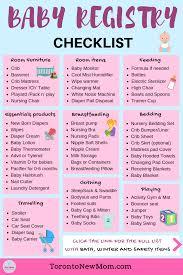 baby item checklist baby registry checklist toronto new mom blog