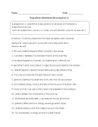 Choosing Prepositions Worksheet | Prepositions | Pinterest ...