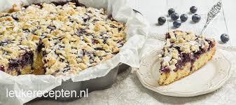 gebak met blauwe bessen