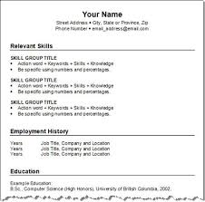 easy resume format resume example easy to use resume templates