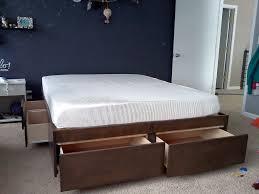diy king platform bed frame. View Larger. Diy King Bed Frame Platform E