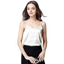 Buy Sufeng <b>Women Sexy Silk Ladies</b> Camisole Bottom Blouse Shirt ...