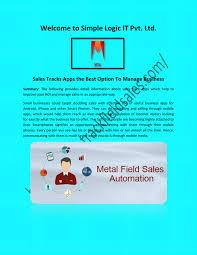 Sales Tracker App Sales Tracking App Sales Tracker App By Simple Logic It Pvt
