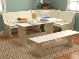 White Breakfast Nook Kitchen White Nook Dining Sets Corner With Storage Bench Eiforces