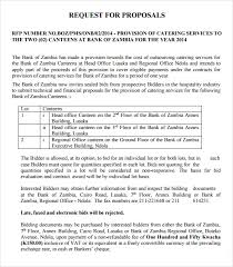 Catering Proposal Letter Mesmerizing 44 Catering Proposal Samples Sample Templates
