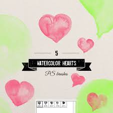 free watercolor brushes illustrator august brush challenge by violamoni watercolor hearts digi