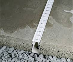 diy exterior drain tile. concrete patio with french drain | plastic drainage systems diy exterior tile