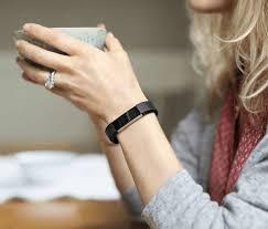 Image result for Fitbit Alta HR Activity Tracker Large Black - FB408SBKL