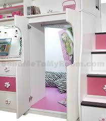 loft bed with desk and stairs berg furniture play study twin loft bed with