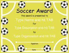 soccer awards templates free printable soccer certificates soccer awards soccer