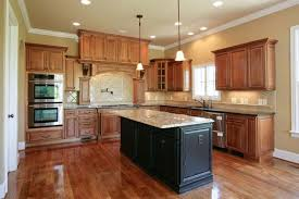 Kitchen Floor Ideas With Stained Cabinets