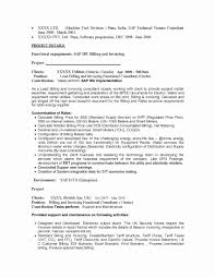 Sap Bi Sample Resume For 2 Years Experience Sap Sd Consultant Resume Sample Awesome Sap Bi Sample Resume for 60 10