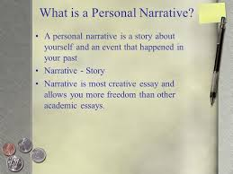 personal narrative writing the first essay connectors habitual what is a personal narrative