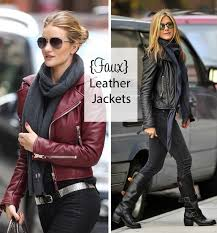 celebrity style leather jackets