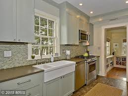 Kitchen Crown Moulding Contemporary Kitchen With Flush Light Crown Molding In