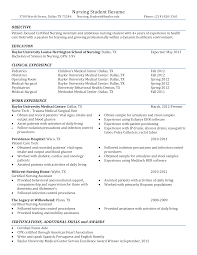 Nursing Graduate Resume Sample Nursing Student Resume Templates At