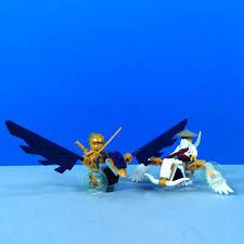 Non Lego - 61018 - Set 8 nhân vật Ninjago Season 11 - Ninja Hoàng Kim vs  rắn Aspheera