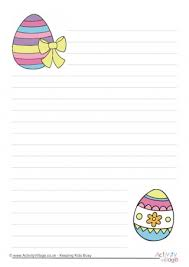 easter stationery easter writing paper