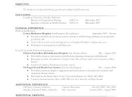 Occupational Therapy Resume Example Sample Occupational Professional ...