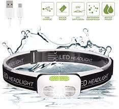 <b>USB Rechargeable</b> LED Headlight, SGODDE <b>4</b>-<b>Mode</b> Headlamp ...
