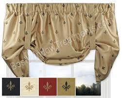 Fleur De Lis Kitchen Curtains
