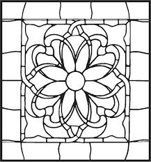 Mooie Kleurplaat Bloem Glas In Lood Met Voorbeeld