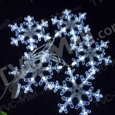 5-LED 220-240V Transparent Snowflake String Lights for Christmas Party etc - EU