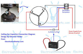 ceiling fan capacitor wiring connection diagram ceiling fan capacitor wiring diagram