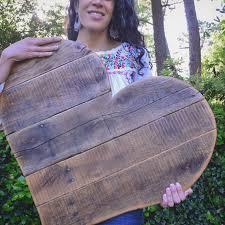 week wait rustic reclaimed cute large wooden heart wall decoration