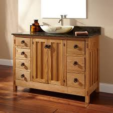Single Vessel Sink Bathroom Vanity Bathroom Vanity With Vessel Sink 48 Unfinished Mission Hardwood