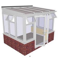 lean to dwarf wall diy conservatory 3158mm width x 2343mm projection