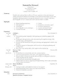 Waitress Resume Examples Inspiration Sample Resumes For Servers Waitress Resume Samples Server Resume