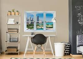 sweet ideas window wall art designing home chicago skyline instant decal fathead for faux stickers artwork uk