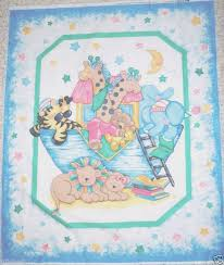 69 best Sewing - Panels images on Pinterest | Kid quilts, Costura ... & TWO NOAH'S ARK FABRIC PANEL cotton BABYquilt top fabric Adamdwight.com