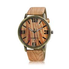 timber timepiece write the first review fashion brown tan faux wood grain leather watch band