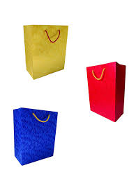 Design Pack Gifts Calars Paper Bags Small Leaf Design Shiny Colorful Gift Bag